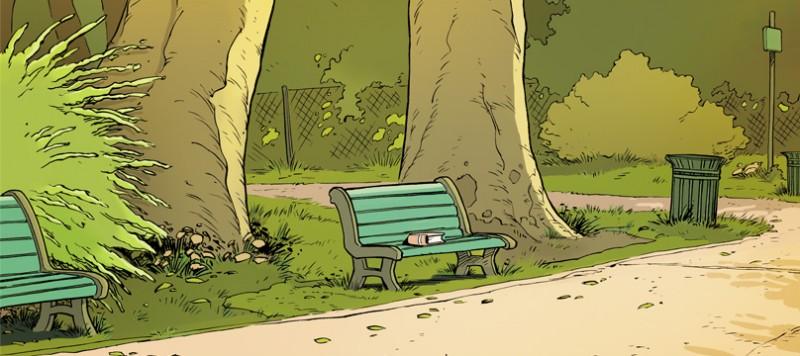 Un petit livre oublié sur un banc - Extrait