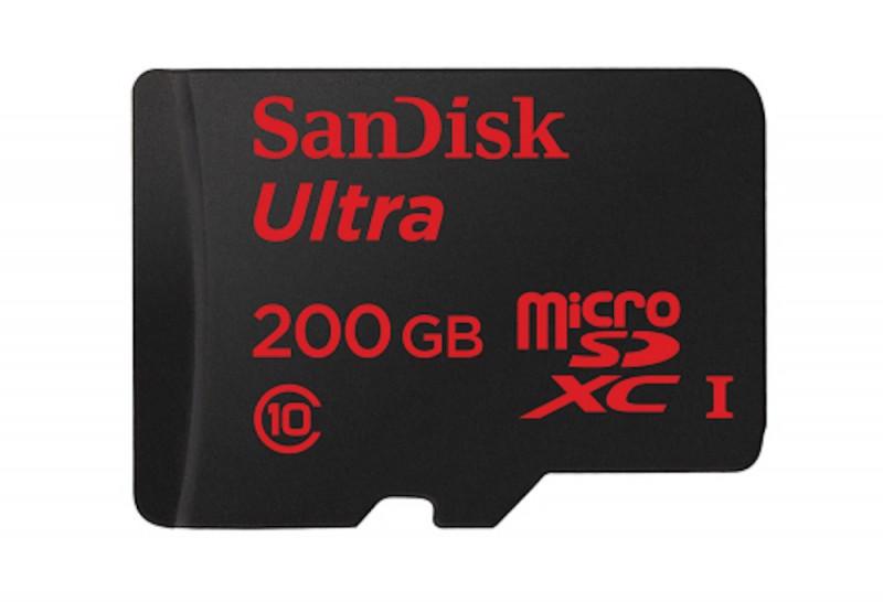 SanDisk - une carte microSDXC de 200 Go de stockage