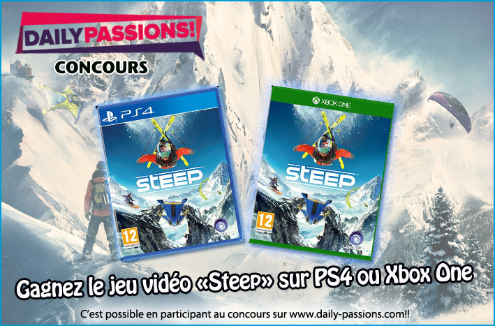 concours gagnez le jeu vid o steep sur ps4 ou xbox one daily passions. Black Bedroom Furniture Sets. Home Design Ideas